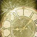 Smashed Clock Face by Amanda Elwell