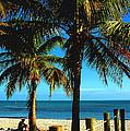 Smathers Beach In Key West by Susanne Van Hulst