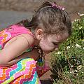 Smelling Flowers by Charles Woodall