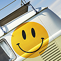 Smiley Face Vw Campervan by Tim Gainey