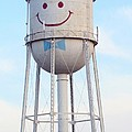 Smiley The Water Tower by Steve Augustin