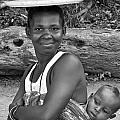 Smiling African Mum And Baby by Bob Parr