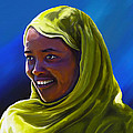 Smiling Lady by Anthony Mwangi