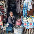 Smiling Vendor by Jill Mitchell
