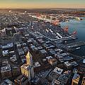 Smith Tower And West Seattle by Mike Reid