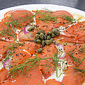 Smoked Salmon Pizza Closeup by Jit Lim