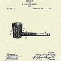 Smoking Pipe 1897 Patent Art  by Prior Art Design