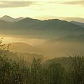 Smoky Mountain Foggy Sunrise by John Burk