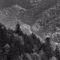 Smoky Mountain View Black And White by Dan Sproul
