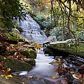 Smoky Mountain Waterfall by Debra and Dave Vanderlaan