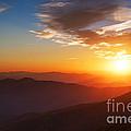 Smoky Mountains Sunset by Maria Aiello