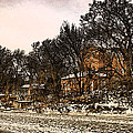 Smoky Valley Rolling Mill In Winter by Ben Shields