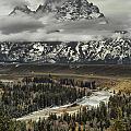 Snake River - Tetons by Erika Fawcett