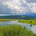 Snake River By Oxbow Bend In Grand Teton National Park-wyoming by Ruth Hager