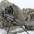 Snipers Provide Overwatch At Fort by Stocktrek Images