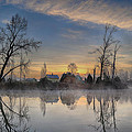 Dawn On The Snohomish by Paul Fell