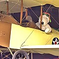Snoopy In His Biplane by Gordon Elwell