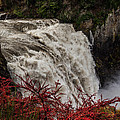 Snoqualmie Falls At Flood Stage by Webb Canepa
