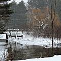 Snow And Stream by Linda Kerkau