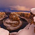 Snow At Horseshoe Bend by Dustin  LeFevre