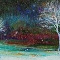 Snow At Twilight by Mary Wolf