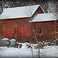 Snow Barn II by Bonfire Photography