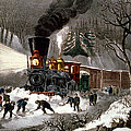 Snow Bound by Currier and Ives