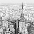 Snow - Chrysler Building And New York City Skyline by Vivienne Gucwa