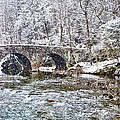 Snow Coming Down On The Wissahickon Creek by Bill Cannon