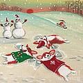 Snow Corgi by Margaryta Yermolayeva