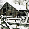 Snow Covered Barn by Kimberleigh Ladd