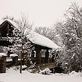 Snow Covered Bridge by Robert Frederick