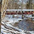 Snow Covered Bridge by Janice Drew