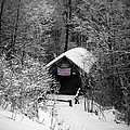 Snow Covered Covered Bridge  by Edward Fielding