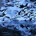 Snow Covered River Rocks by Mark Hudon