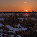 Snow Dune Sunset Seaside Park Nj by Terry DeLuco