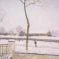 Snow Effect Effet De Neige Pastel On Paper C. 1880-1885 by Alfred Sisley