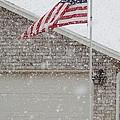 Snow Flag by JoLen Confer
