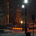 Snow In Downtown Grants Pass - 5th Street by Mick Anderson