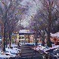 Snow In Silverado Dr by Ylli Haruni