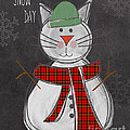 Snow Kitten by Linda Woods