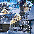 Snow On Back Alley - Shepherdstown by Julia Springer