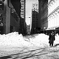Snow On Broadway 1990s by John Rizzuto
