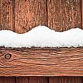 Snow On Fence by Tom Gowanlock