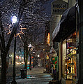 Snow On G Street 3 - Old Town Grants Pass by Mick Anderson