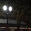Snow On G Street In Grants Pass - Christmas by Mick Anderson