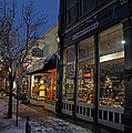 Snow On G Street - Old Town Grants Pass by Mick Anderson