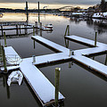 Snow On The Docks by Eric Gendron