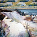 Snow On The Dunes by Art Nomad Sandra  Hansen