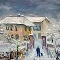 Snow On The Farmhouse by Mario Zampedroni